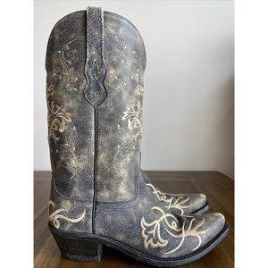 Old West LF1587 Pull-On Leather Cowboy Boots Women